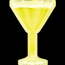 Copa martini amarilla