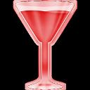 Copa roja de vermuth