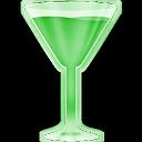 Copa martini verde