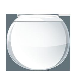 pecera de cristal vacia